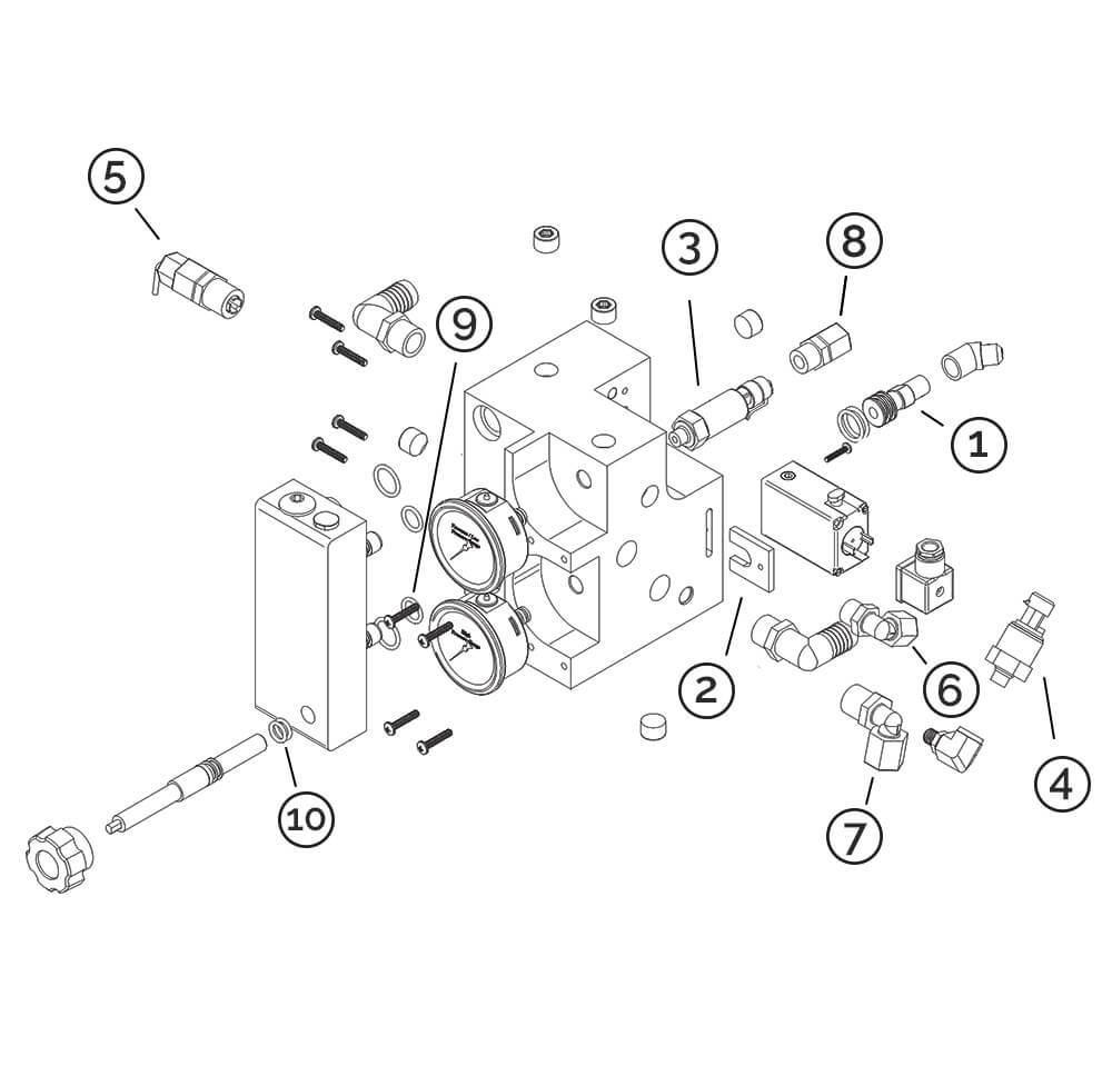 Manifold control Aqua Whisper Pro watermaker